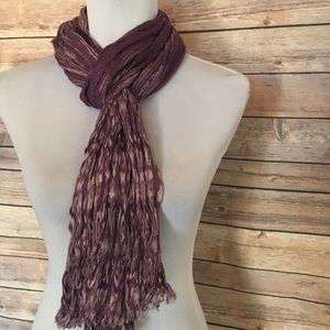 Talbots Purple & Gray Scrunchie Scarf